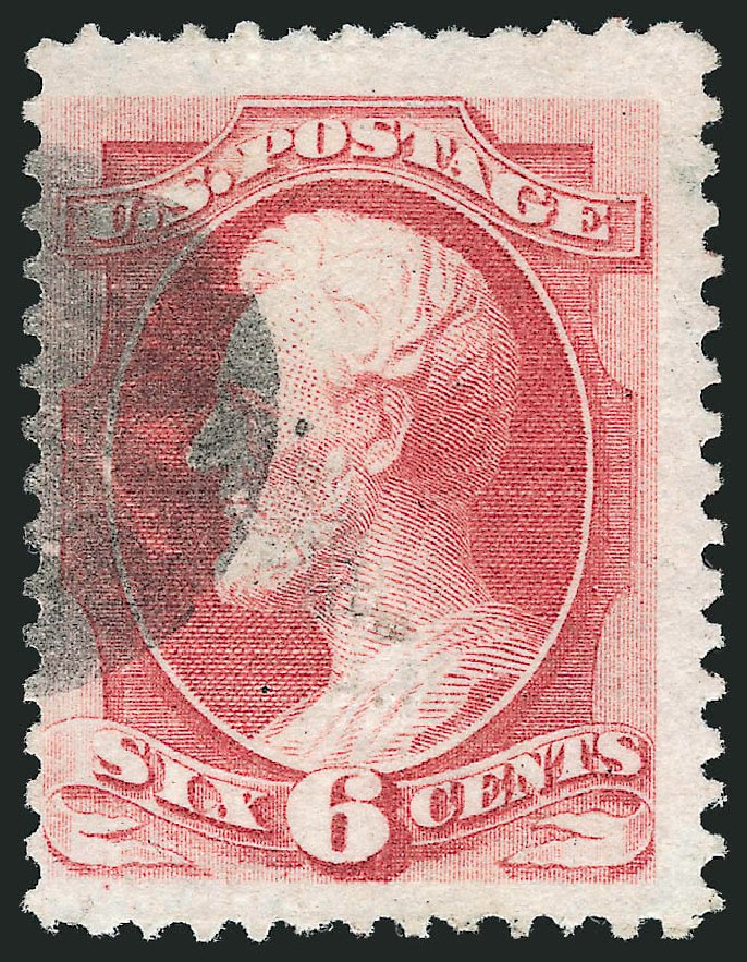 US Stamp Value Scott Cat. #137 - 1870 6c Lincoln Grill. Robert Siegel Auction Galleries, Nov 2014, Sale 1084, Lot 3370