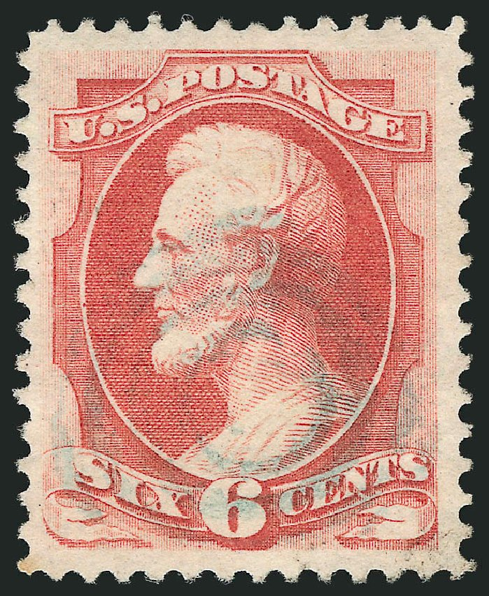 US Stamp Values Scott Catalog #137 - 1870 6c Lincoln Grill. Robert Siegel Auction Galleries, Feb 2015, Sale 1092, Lot 1115