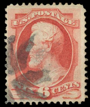 US Stamp Price Scott Cat. #137 - 6c 1870 Lincoln Grill. Daniel Kelleher Auctions, Aug 2015, Sale 672, Lot 2402