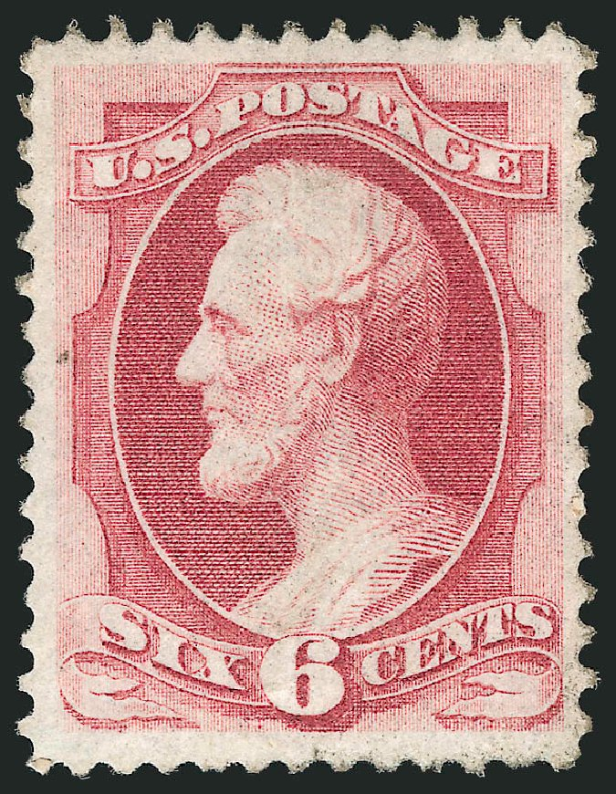 US Stamp Price Scott #137: 1870 6c Lincoln Grill. Robert Siegel Auction Galleries, Apr 2015, Sale 1096, Lot 263
