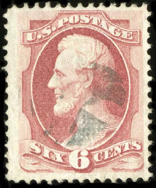 US Stamp Price Scott Cat. #137: 6c 1870 Lincoln Grill. Spink Shreves Galleries, Jul 2015, Sale 151, Lot 133