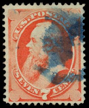 US Stamps Price Scott Catalogue 138: 7c 1871 Stanton Grill. Daniel Kelleher Auctions, May 2014, Sale 652, Lot 267