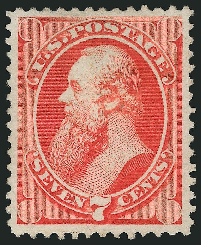 Price of US Stamps Scott 138 - 1871 7c Stanton Grill. Robert Siegel Auction Galleries, Apr 2014, Sale 1068, Lot 138