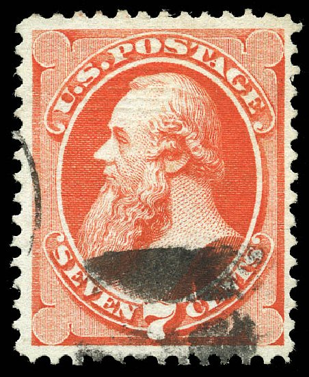 US Stamps Value Scott #138 - 1871 7c Stanton Grill. Matthew Bennett International, Feb 2015, Sale 351, Lot 109