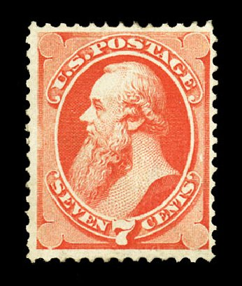 Value of US Stamps Scott Catalog 138 - 7c 1871 Stanton Grill. Cherrystone Auctions, Jul 2015, Sale 201507, Lot 2059