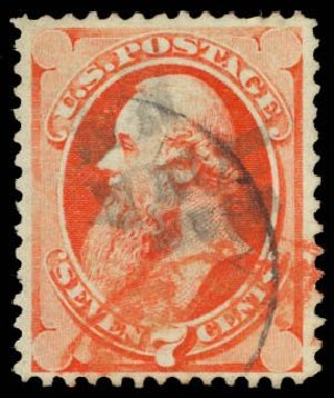 Price of US Stamps Scott Catalog #138: 7c 1871 Stanton Grill. Daniel Kelleher Auctions, Dec 2014, Sale 661, Lot 139