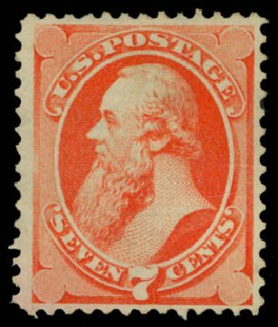 Prices of US Stamps Scott #138: 1871 7c Stanton Grill. Daniel Kelleher Auctions, Jan 2015, Sale 663, Lot 1379