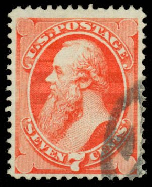 Values of US Stamps Scott Catalogue # 138: 7c 1871 Stanton Grill. Daniel Kelleher Auctions, Jan 2015, Sale 663, Lot 1380