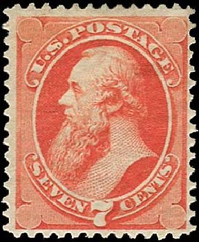Values of US Stamp Scott Catalog 138: 1871 7c Stanton Grill. Regency-Superior, Nov 2014, Sale 108, Lot 320