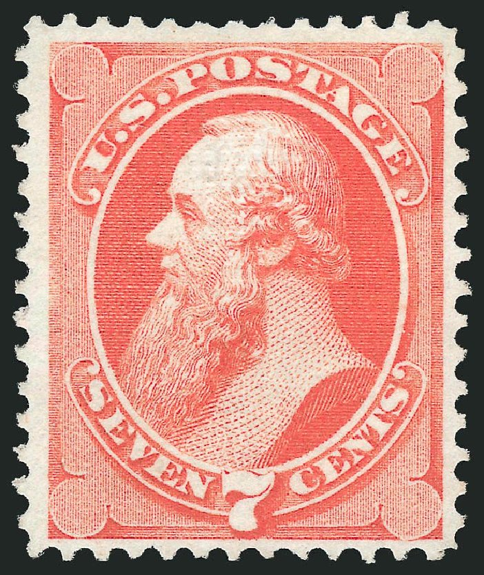 US Stamp Values Scott 138 - 1871 7c Stanton Grill. Robert Siegel Auction Galleries, Dec 2014, Sale 1090, Lot 1300