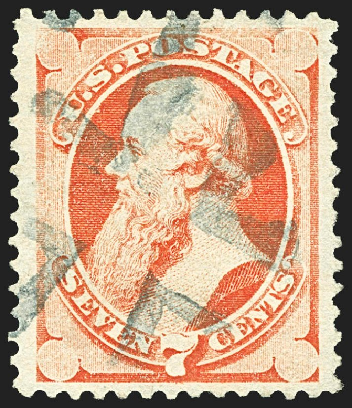 Prices of US Stamps Scott #138: 1871 7c Stanton Grill. Robert Siegel Auction Galleries, Jul 2015, Sale 1107, Lot 261