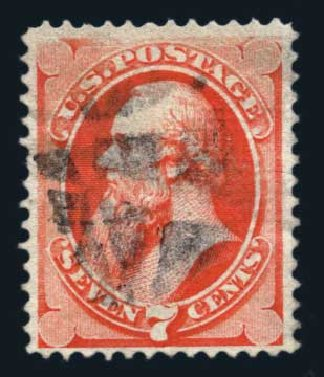 Costs of US Stamps Scott Cat. # 138: 1871 7c Stanton Grill. Harmer-Schau Auction Galleries, Aug 2014, Sale 102, Lot 1782