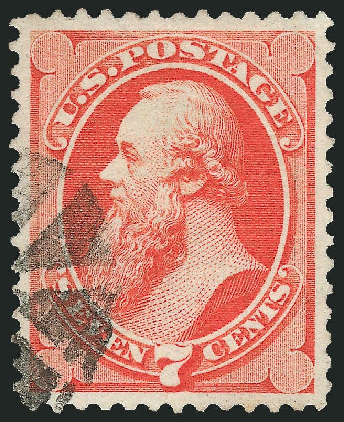 Value of US Stamp Scott Catalogue #138: 7c 1871 Stanton Grill. Robert Siegel Auction Galleries, Nov 2014, Sale 1084, Lot 3372