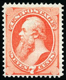 Cost of US Stamps Scott 138 - 7c 1871 Stanton Grill. Schuyler J. Rumsey Philatelic Auctions, Apr 2015, Sale 60, Lot 2143