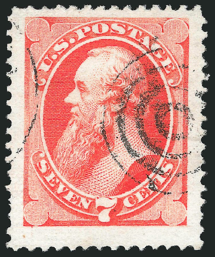 Values of US Stamps Scott Cat. #138 - 1871 7c Stanton Grill. Robert Siegel Auction Galleries, Nov 2014, Sale 1084, Lot 3373