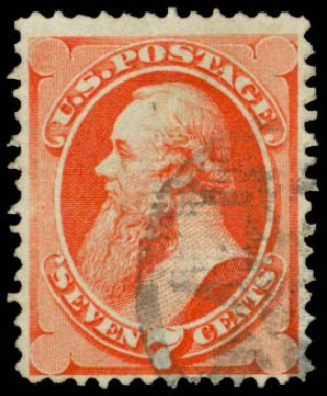Prices of US Stamps Scott Catalog # 138 - 7c 1871 Stanton Grill. Daniel Kelleher Auctions, Mar 2014, Sale 648, Lot 2076