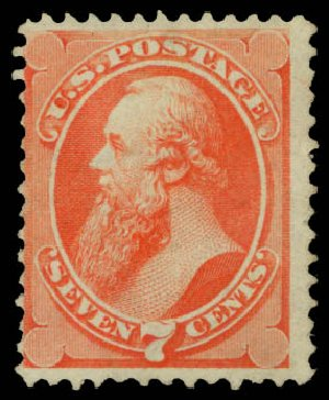 Prices of US Stamps Scott Cat. 138: 1871 7c Stanton Grill. Daniel Kelleher Auctions, May 2015, Sale 669, Lot 2616