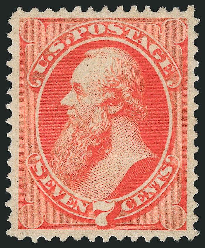 US Stamp Values Scott Cat. 138 - 1871 7c Stanton Grill. Robert Siegel Auction Galleries, Feb 2015, Sale 1092, Lot 1116