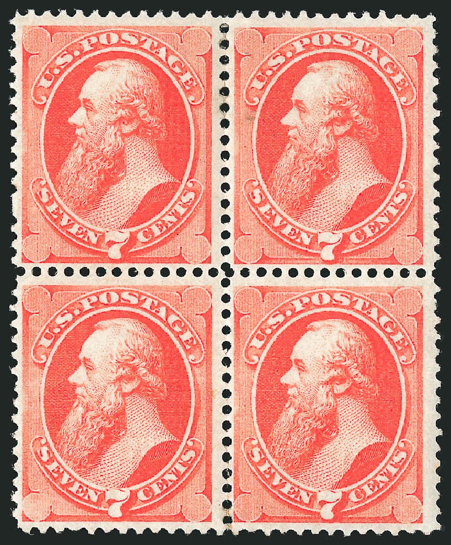 Price of US Stamps Scott Cat. 138: 7c 1871 Stanton Grill. Robert Siegel Auction Galleries, Apr 2015, Sale 1096, Lot 266