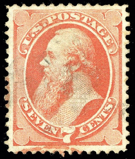 US Stamps Price Scott Cat. #138 - 1871 7c Stanton Grill. Spink Shreves Galleries, May 2014, Sale 148, Lot 166