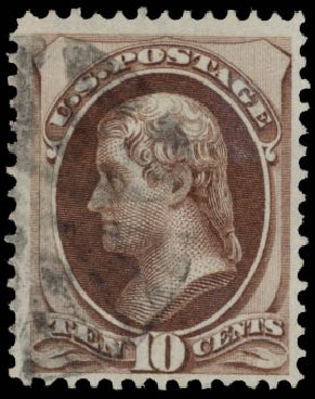 Prices of US Stamps Scott #139 - 1870 10c Jefferson Grill. Daniel Kelleher Auctions, May 2015, Sale 669, Lot 2618