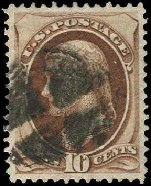 US Stamps Price Scott Catalogue 139 - 10c 1870 Jefferson Grill. Regency-Superior, Nov 2014, Sale 108, Lot 322