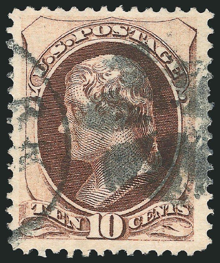 Value of US Stamp Scott Catalog # 139: 10c 1870 Jefferson Grill. Robert Siegel Auction Galleries, Nov 2014, Sale 1084, Lot 3376