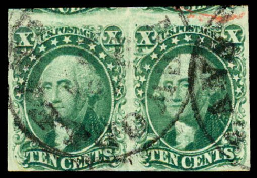 Value of US Stamp Scott Cat. #14 - 10c 1855 Washington. Daniel Kelleher Auctions, May 2015, Sale 669, Lot 2419