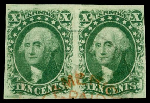 Costs of US Stamps Scott 14 - 10c 1855 Washington. Daniel Kelleher Auctions, Jan 2015, Sale 663, Lot 1235