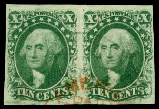 Costs of US Stamps Scott 14 - 10c 1855 Washington. Daniel Kelleher Auctions, Jan 2015, Sale 663, Lot 1235