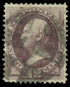 Price of US Stamp Scott # 140 - 12c 1870 Clay Grill. Daniel Kelleher Auctions, Mar 2014, Sale 648, Lot 2077