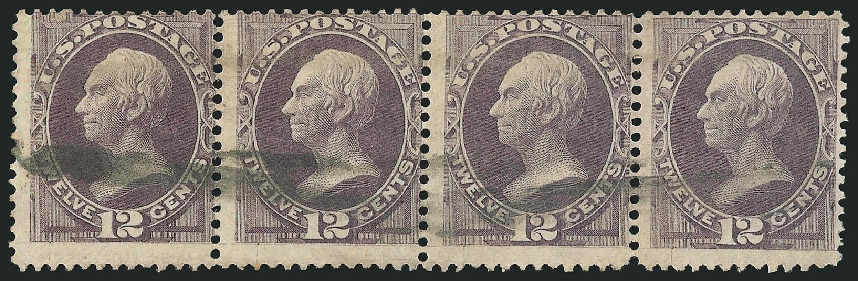 US Stamps Values Scott Catalog 140 - 12c 1870 Clay Grill. Robert Siegel Auction Galleries, Nov 2014, Sale 1084, Lot 3379