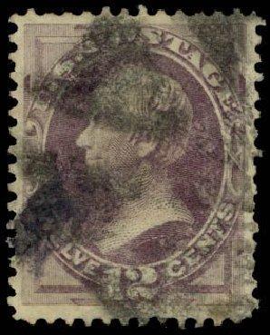 US Stamp Value Scott Cat. 140 - 1870 12c Clay Grill. Daniel Kelleher Auctions, Apr 2013, Sale 636, Lot 160