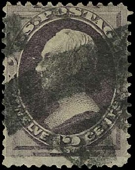 Cost of US Stamp Scott Cat. 140 - 1870 12c Clay Grill. Regency-Superior, Aug 2015, Sale 112, Lot 300
