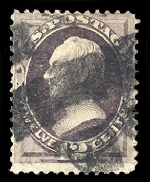 Price of US Stamp Scott Catalogue #140 - 12c 1870 Clay Grill. Cherrystone Auctions, Mar 2015, Sale 201503, Lot 11