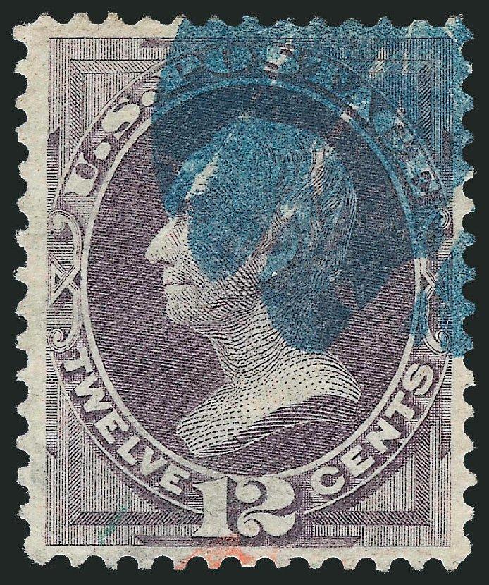 US Stamp Value Scott Catalogue # 140: 12c 1870 Clay Grill. Robert Siegel Auction Galleries, Dec 2013, Sale 1062, Lot 351