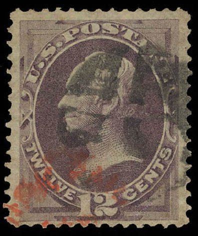 Costs of US Stamp Scott Cat. 140: 12c 1870 Clay Grill. Daniel Kelleher Auctions, Feb 2013, Sale 634, Lot 114