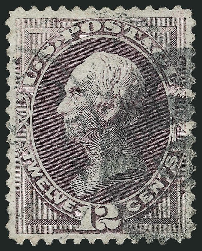 Values of US Stamps Scott Catalogue #140 - 12c 1870 Clay Grill. Robert Siegel Auction Galleries, Nov 2012, Sale 1034, Lot 144
