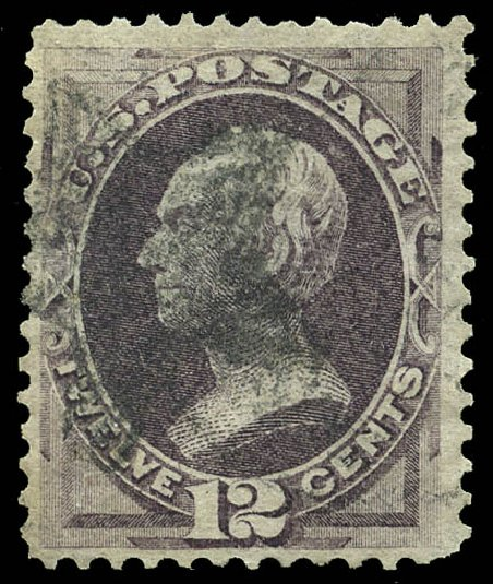 US Stamps Values Scott Catalogue # 140 - 1870 12c Clay Grill. Matthew Bennett International, May 2014, Sale 350, Lot 255