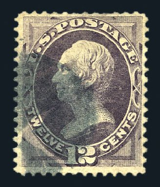 Values of US Stamp Scott Catalogue #140 - 12c 1870 Clay Grill. Harmer-Schau Auction Galleries, Aug 2015, Sale 106, Lot 1493