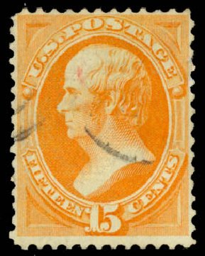 Cost of US Stamp Scott Catalog 141 - 1870 15c Webster Grill. Daniel Kelleher Auctions, Aug 2015, Sale 672, Lot 2407