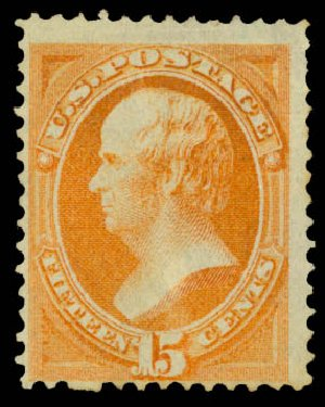 Value of US Stamps Scott Catalogue 141: 15c 1870 Webster Grill. Daniel Kelleher Auctions, May 2015, Sale 669, Lot 2620