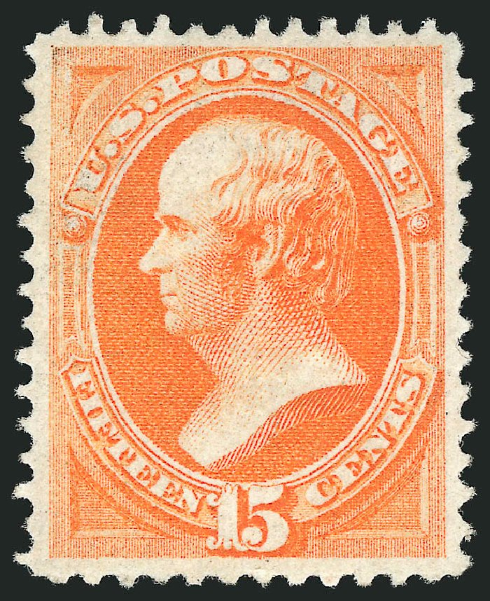 US Stamps Value Scott Catalogue #141 - 15c 1870 Webster Grill. Robert Siegel Auction Galleries, Apr 2015, Sale 1096, Lot 270