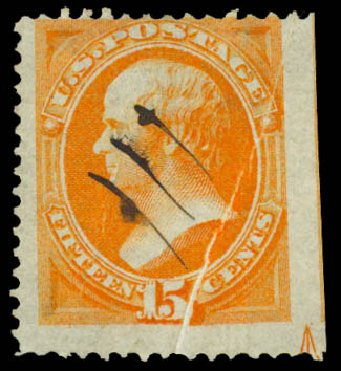 US Stamps Prices Scott Catalogue 141: 1870 15c Webster Grill. Daniel Kelleher Auctions, May 2015, Sale 669, Lot 2621