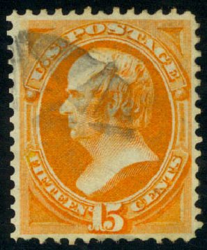 Price of US Stamp Scott Cat. #141: 1870 15c Webster Grill. Daniel Kelleher Auctions, Aug 2015, Sale 672, Lot 2405