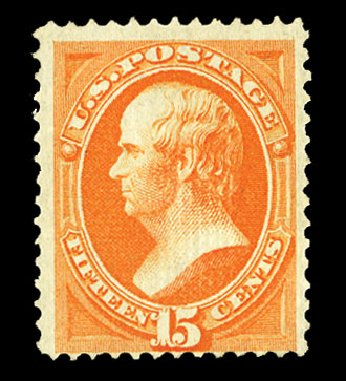 US Stamp Value Scott # 141 - 1870 15c Webster Grill. Cherrystone Auctions, Jul 2015, Sale 201507, Lot 2062