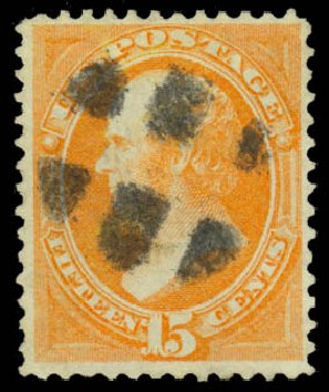 Costs of US Stamps Scott Catalog #141: 1870 15c Webster Grill. Daniel Kelleher Auctions, Jan 2015, Sale 663, Lot 1382