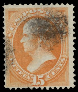US Stamp Values Scott Cat. #141 - 1870 15c Webster Grill. Daniel Kelleher Auctions, May 2015, Sale 669, Lot 2622
