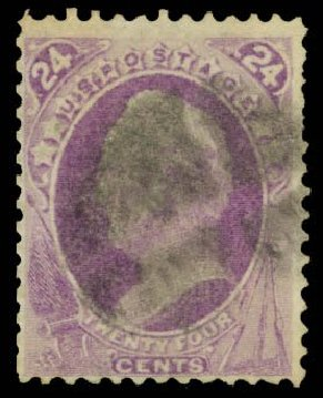 Values of US Stamp Scott Catalogue #142: 1870 24c Winfield Scott Grill. Daniel Kelleher Auctions, Dec 2014, Sale 661, Lot 140