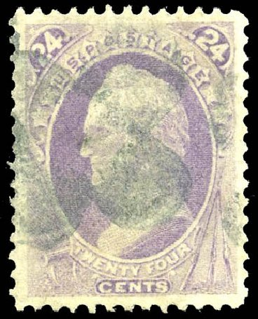 US Stamps Price Scott Catalog # 142: 1870 24c Winfield Scott Grill. Matthew Bennett International, Feb 2015, Sale 351, Lot 111